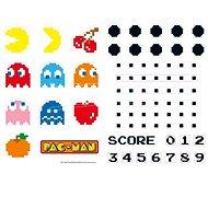 ABYstyle - Pac-Man - Matricák - 50x70cm - Karakterek & útvesztők