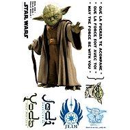 ABYstyle - Star Wars - Öntapadós fali dekoráció - 1:1 méretarány - YODA - (méretek: 66 x 42 cm)