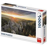 Dino sziklafal 1000 puzzle - Puzzle