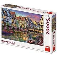 Dino Romantikus kora este 2000 puzzle - Puzzle