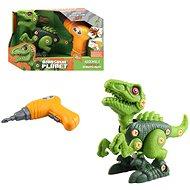 Csavarozós dinoszaurusz, elemes, 20 cm zöld - Építőjáték
