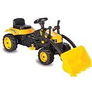 Jamara Strong Bull traktor homlokrakodóval sárga - Pedálos traktor