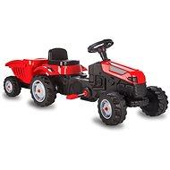 Jamara Strong Bull pedálos traktor pótkocsival piros - Pedálos traktor