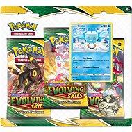 Pokémon TCG: SWSH07 Evolving Skies - 3 Blister Booster - Kártyajáték