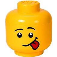Tárolódoboz LEGO Fej alakú tárolódoboz Silly - kicsi - Úložný box