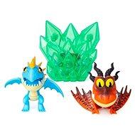 Így neveld a sárkányodat 3 Multi ajándékcsomag - Kék és piros sárkány - Figurák