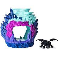 Így neveld a sárkányodat 3 Világító sárkánybarlang Fogatlan figurájával - Játék szett