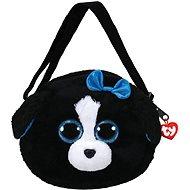 Ty Gear shoulder bag Tracey - black/white dog 15 cm - Plüssjáték