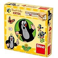 Fa játékkockák Dino Kisvakond - Dřevěné kostky
