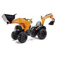 Case Pedálos traktor első és hátsó markolólapáttal - Pedálos traktor