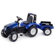 New Holland T8 Kék pedálos traktor utánfutóval - Pedálos traktor