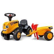 Lábbal hajtható JCB traktor sárga - Futóbicikli