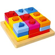 Helyezzen formákat egy színes táblára - Kirakós játék