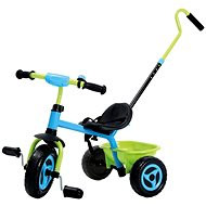 Fém háromkerekű vezető rúddal - Pedálos tricikli