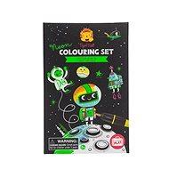 Kifestőkönyv Neon színező készletek / Univerzum