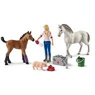 Figurák Schleich 42486 Állatorvos látogatása kancánál és csikójánál