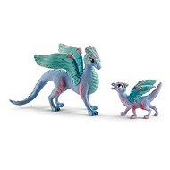 Figurák Schleich 70592 Virágos sárkánymama és sárkánygyerek