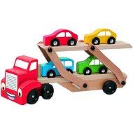 Oktató játékok - Woody autószállító utánfutós vontató - Készségfejlesztő játék