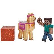 Minecraft Steve és egy láma - Figura