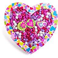 Woody gyöngyfűző készlet - szív - Gyöngyök