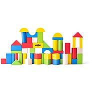 Woody Építőkockák színes 50 db - 2,5 cm - Fa játékkockák