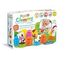 Babajáték Clementoni Clemmy Baby Állatok a farmon - Hračka pro nejmenší