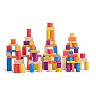 Fa játékkockák Woody Építőkockák - természetes