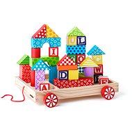 Woody Kocsi kockákkal / pecsétekkel ABC - Építőjáték