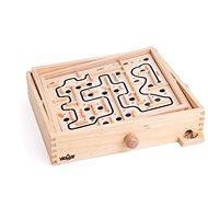 Társasjáték Woody labirintus billenő síkokkal, cserélhető táblákkal - Stolní hra