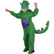 Dinoszaurusz jelmez zöld M méret - Gyerekjelmez