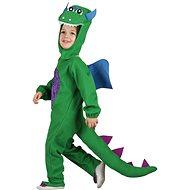 Dinoszaurusz jelmez zöld, S méret - Gyerekjelmez