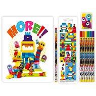 LEGO Movie 2 Stationery Készlet jegyzetfüzettel Duplo - Iskolai felszerelés