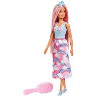 Barbie baba hajkefével és tiarával - Baba
