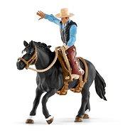 Figura Schleich 41416 Nyergelt ló cowboyjal