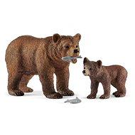 Schleich 42473 Grizzly medve anya és bocs - Figura