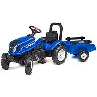 Traktor pótkocsival - kék - Futóbicikli