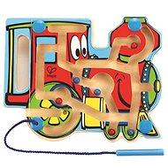Hape Gőzmozdony - labirintus mágneses pálcával és gyöngyökkel - Készségfejlesztő játék