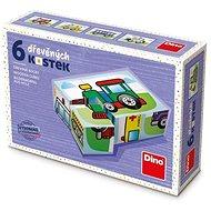 Fa játékkockák Dino Forgalom 6 kocka - Dřevěné kostky
