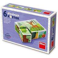 Dino Erdei állatok 6 kocka - Fakockák