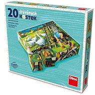 Fa játékkockák Dino A farmon 20 kocka - Dřevěné kostky