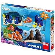 Dino: Dory (4 x 54 darabos) - Puzzle