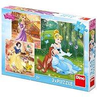 Puzzle Dino hercegnő: szabadidő délután (3 x 55 darabos) - Puzzle