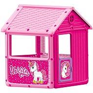 Dolu Első rózsaszín kertes házam, unikornis - Játék ház
