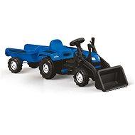 Ranchero alsópedálos traktor utánfutóval és kotrókanállal - Pedálos traktor
