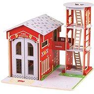 Bigjigs Toys Tűzoltóállomás - Játékszett