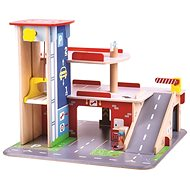 Bigjigs Toys Garázs parkolóval - Játékszett