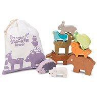 Fajáték Le Toy Van Petilou Egymásra rakható állatok - Dřevěná hračka