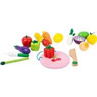Small Foot Mágneses gyümölcsök és zöldségek szett - Fajáték