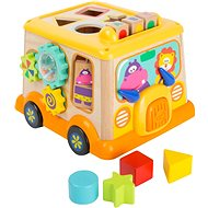 Small Foot Motoros kocka iskolabusz - Fajáték