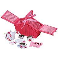 Small Foot Rózsaszín piknik kosár étkészlettel - Játék edények